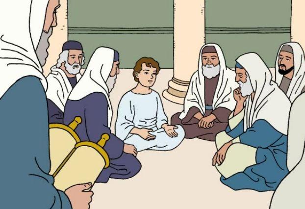 Resultado de imagen de EL NIÑO jesus en la sinagoga